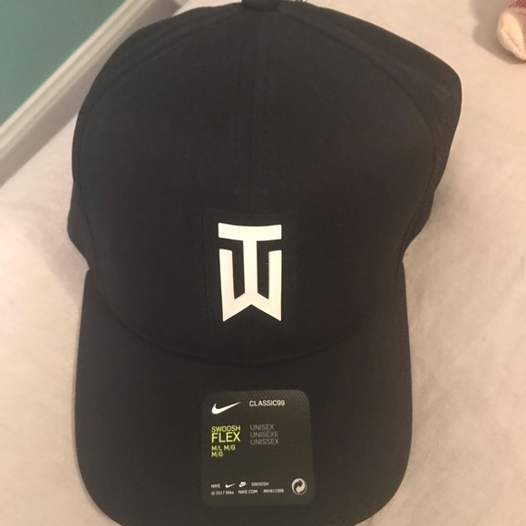5795f38c8fe NWT black and white Tiger woods golf hat